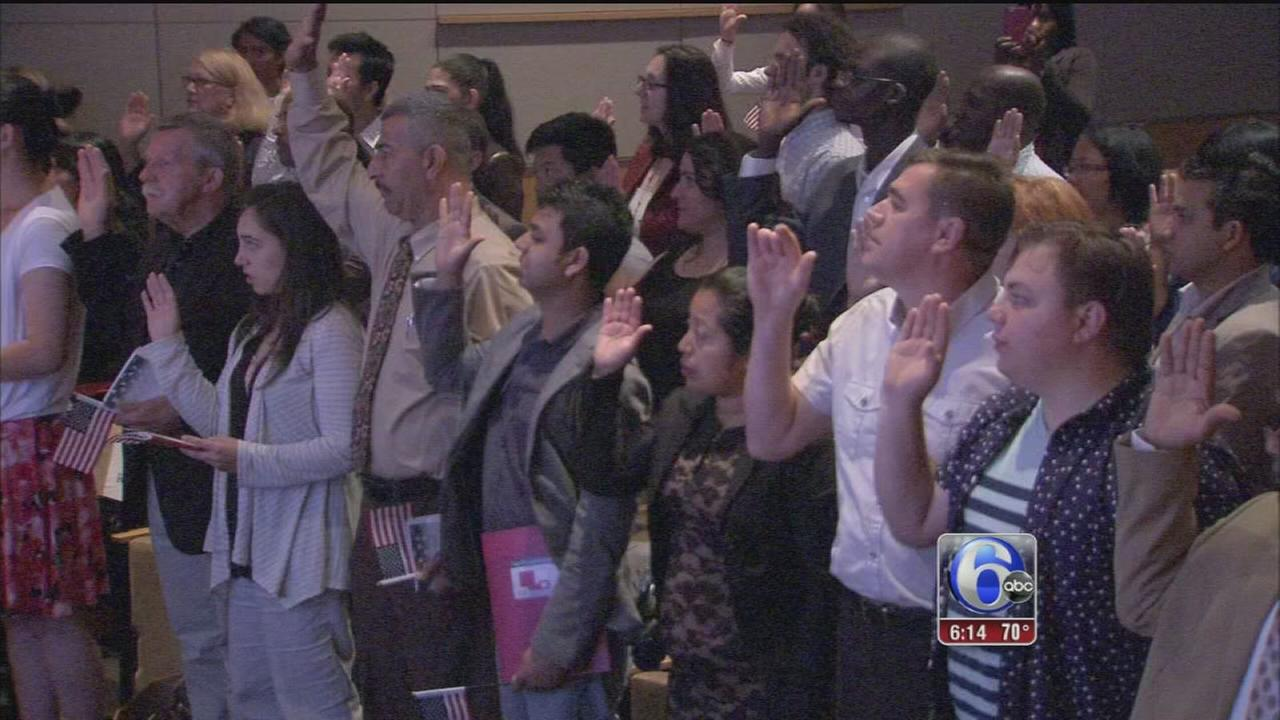 VIDEO: 47 people become new U.S. citizens in Old City