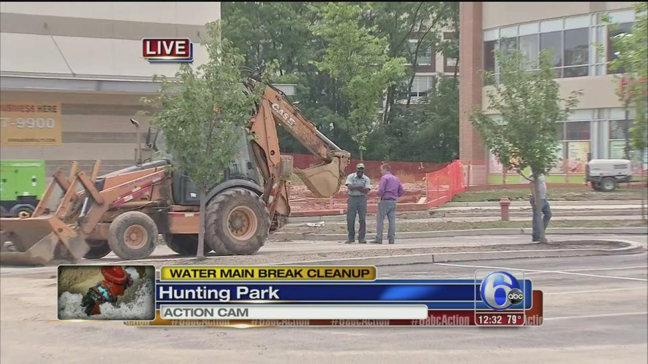 VIDEO: Cleanup underway after water main break