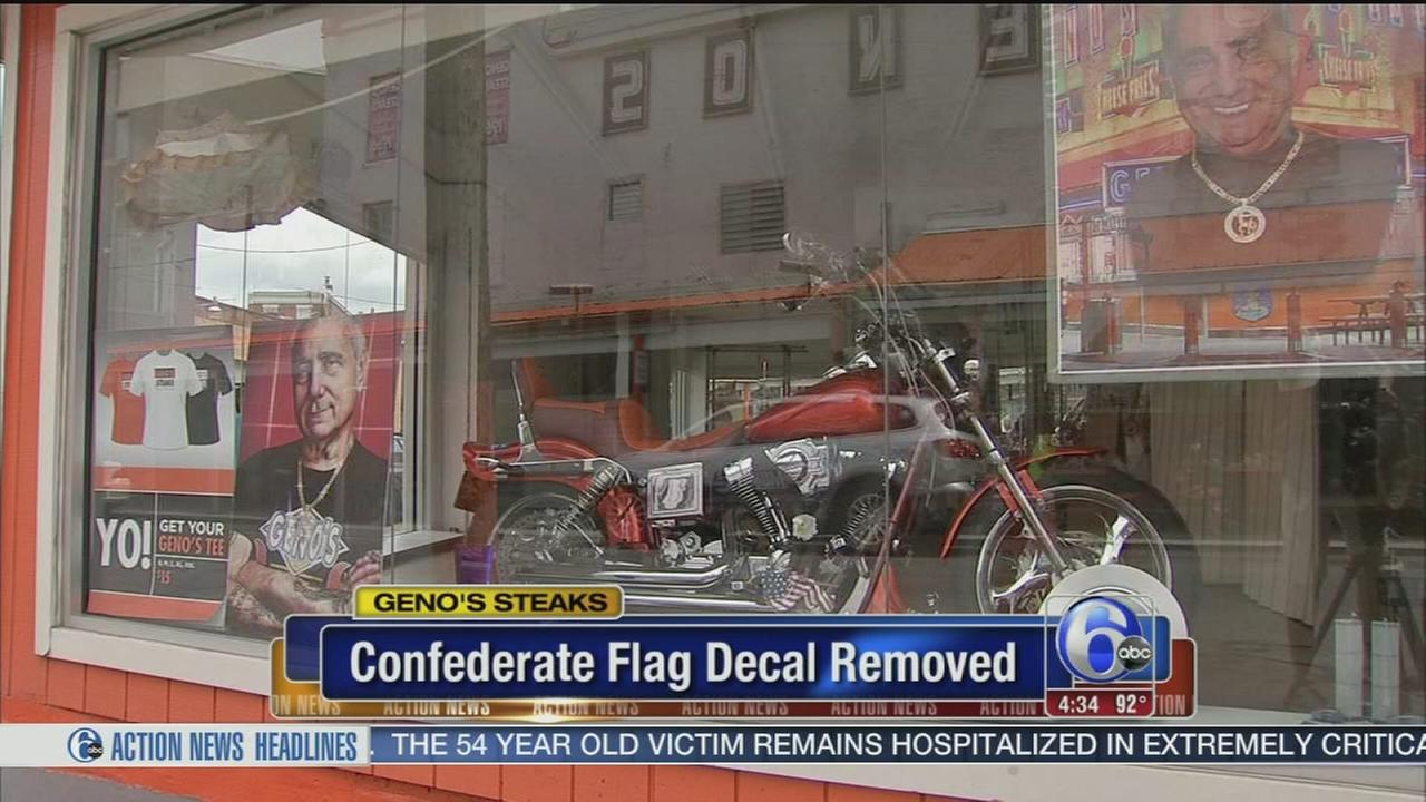 VIDEO: Genos Steaks removes Confederate flag decal