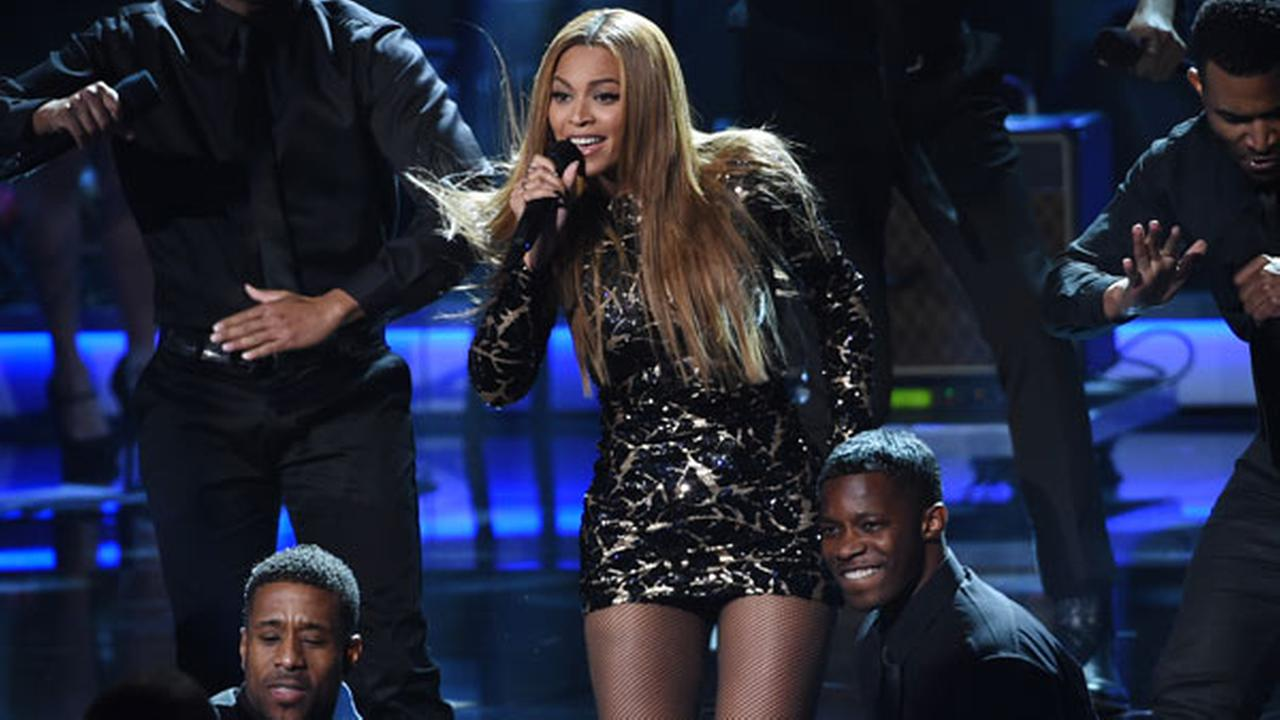 Beyonce performs at Stevie Wonder: Songs in the Key of Life - An All-Star Grammy Salute, at the Nokia Theatre L.A. Live on Tuesday, Feb. 10, 2015, in Los Angeles.