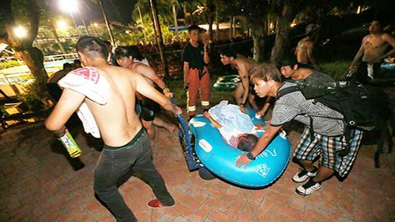 Fire injures scores attending party at Taiwan water park