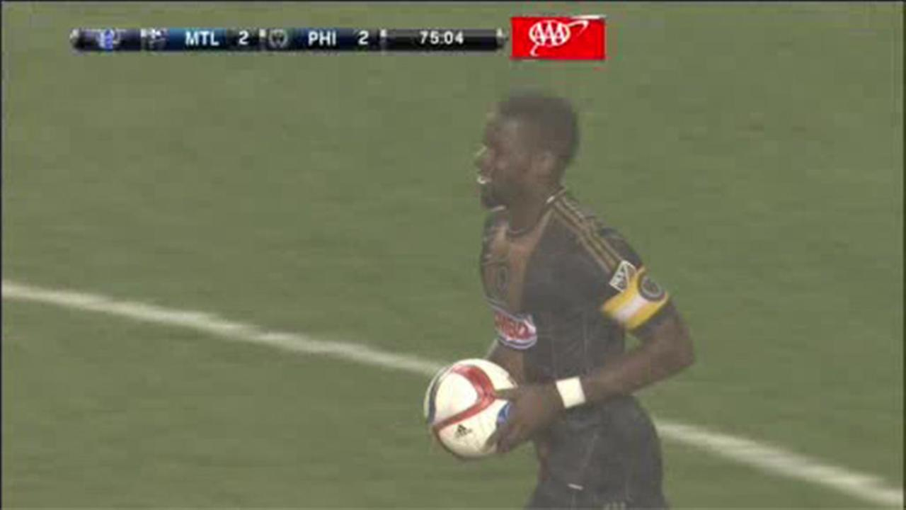 Late goal helps Union salvage a 2-2 tie with Montreal