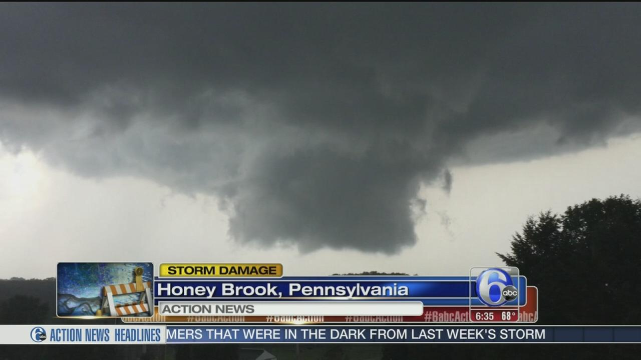 VIDEO: Tornado, funnel cloud reports in SE Pa.