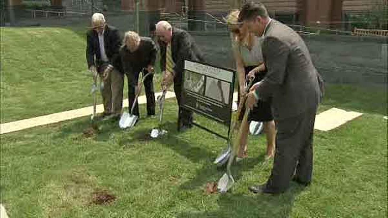 Officials broke ground Wednesday for a new September 11 memorial sculpture in Bucks County.