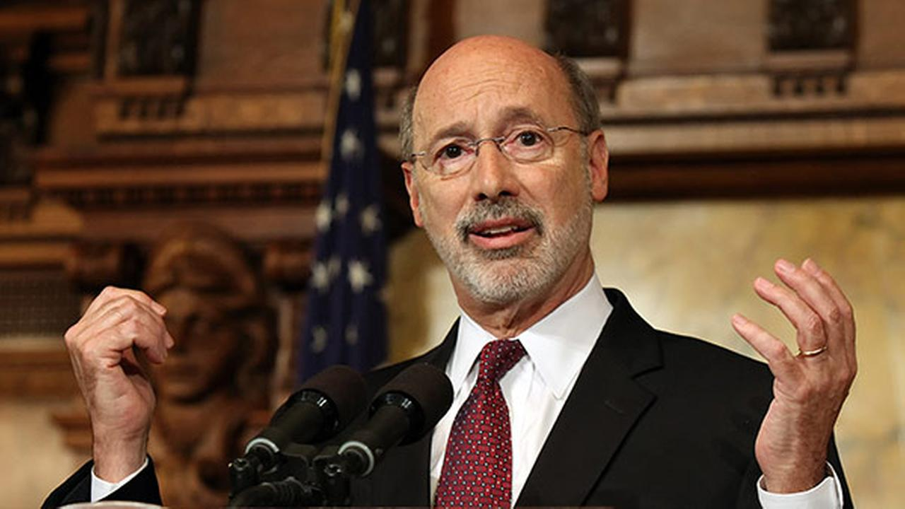 Pennsylvania Gov. Tom Wolf, speaks to members of the media at the state Capitol in Harrisburg Pa. Tuesday, June 30, 2015.