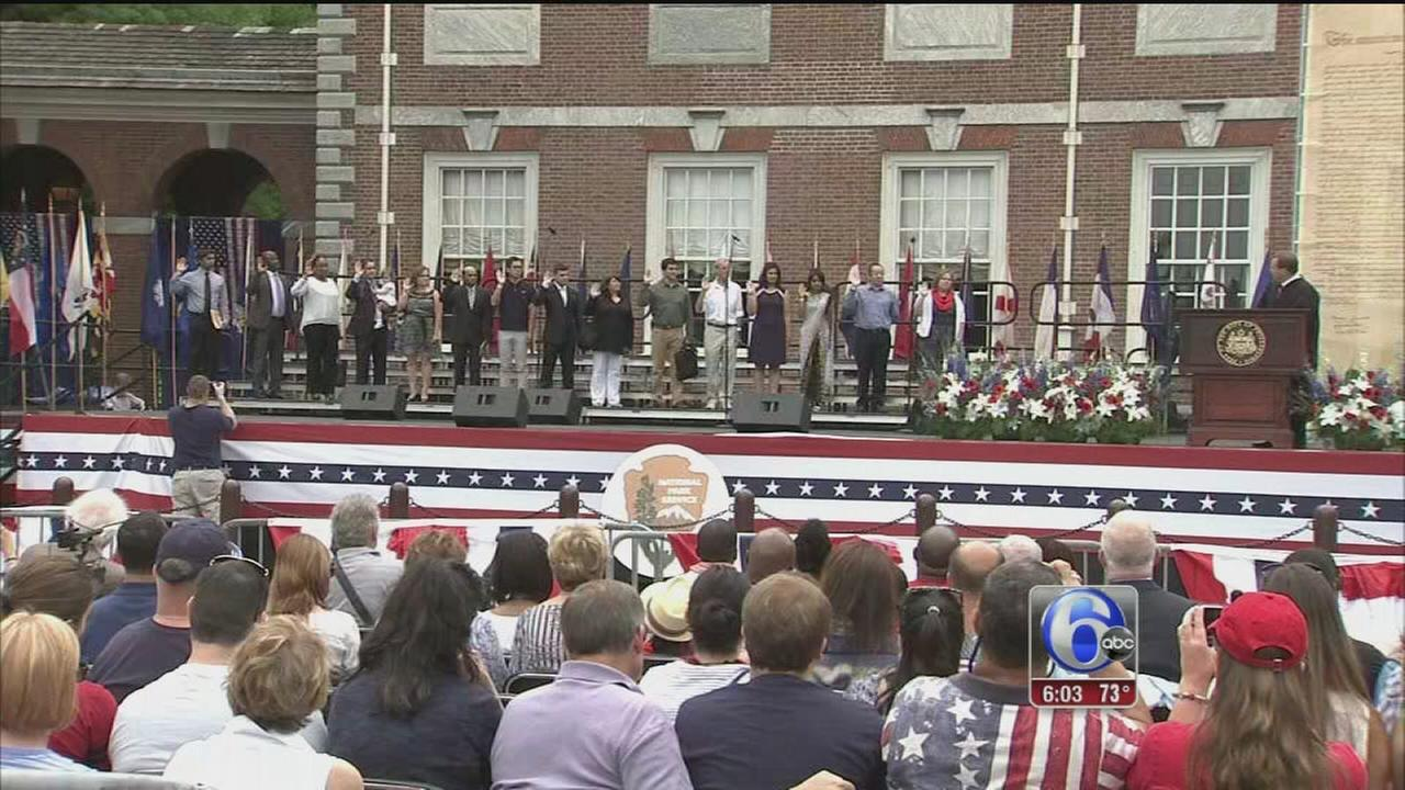 VIDEO: 15 new citizens mark Fourth of July