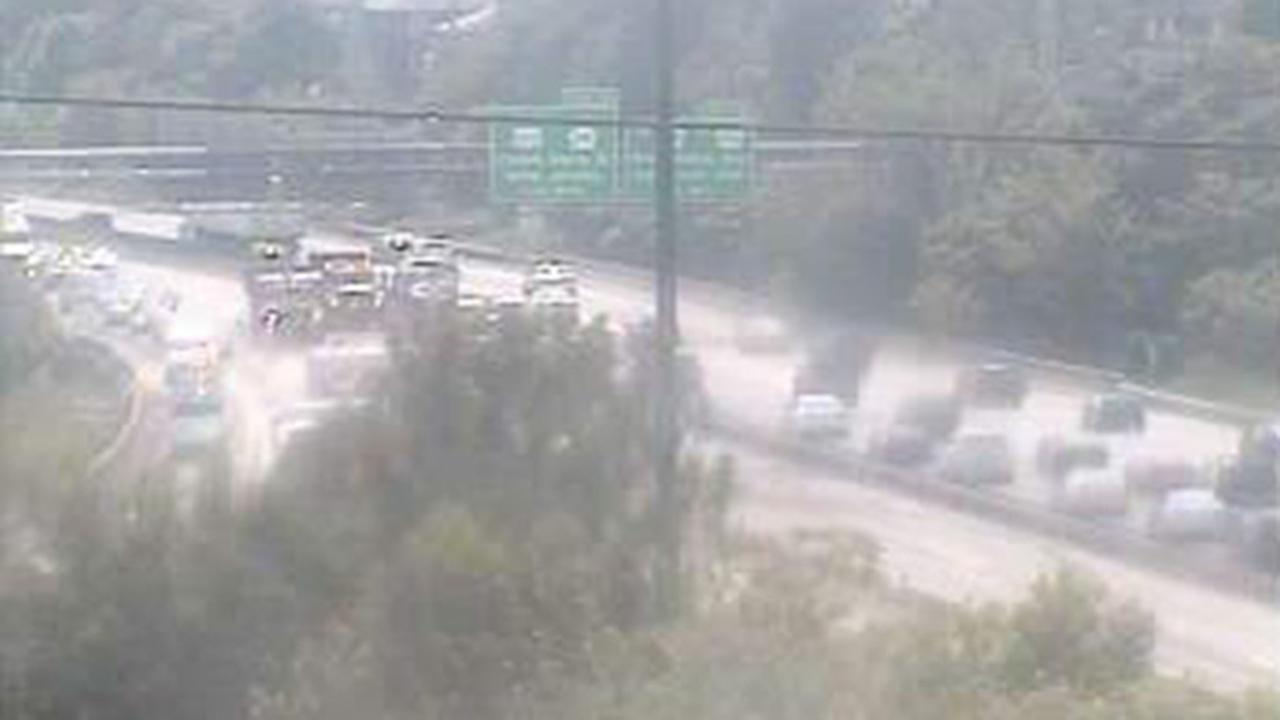 All lanes reopen after accident, fuel spill on northbound I-95 in Delaware County