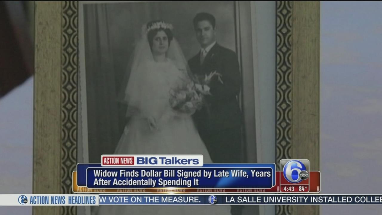 VIDEO: Widow finds dollar signed by late wife