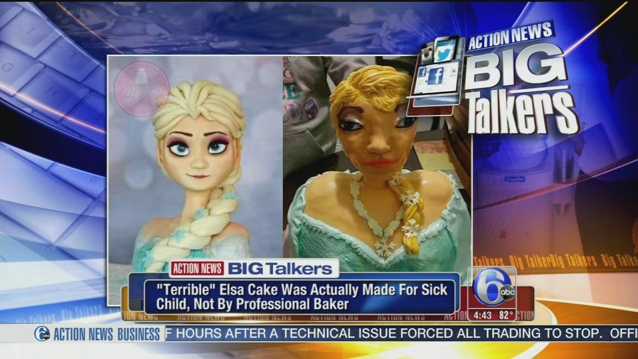 VIDEO: Ugly Elsa cake was made for sick children by volunteer