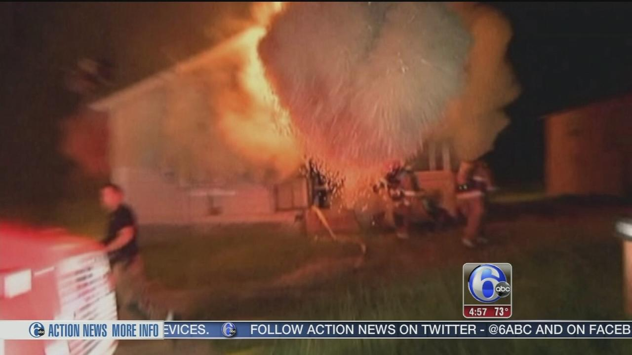 VIDEO: Close call for firefighters in Arkansas