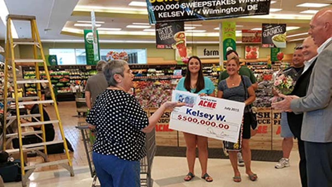 Delaware woman wins $500,000 prize from Acme