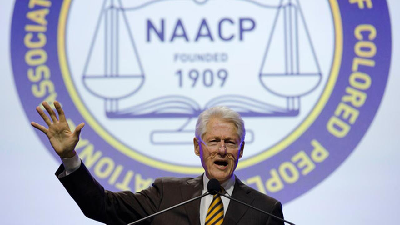 Former President Bill Clinton speaks during the NAACPs 106th Annual National Convention, Wednesday, July 15, 2015, in Philadelphia
