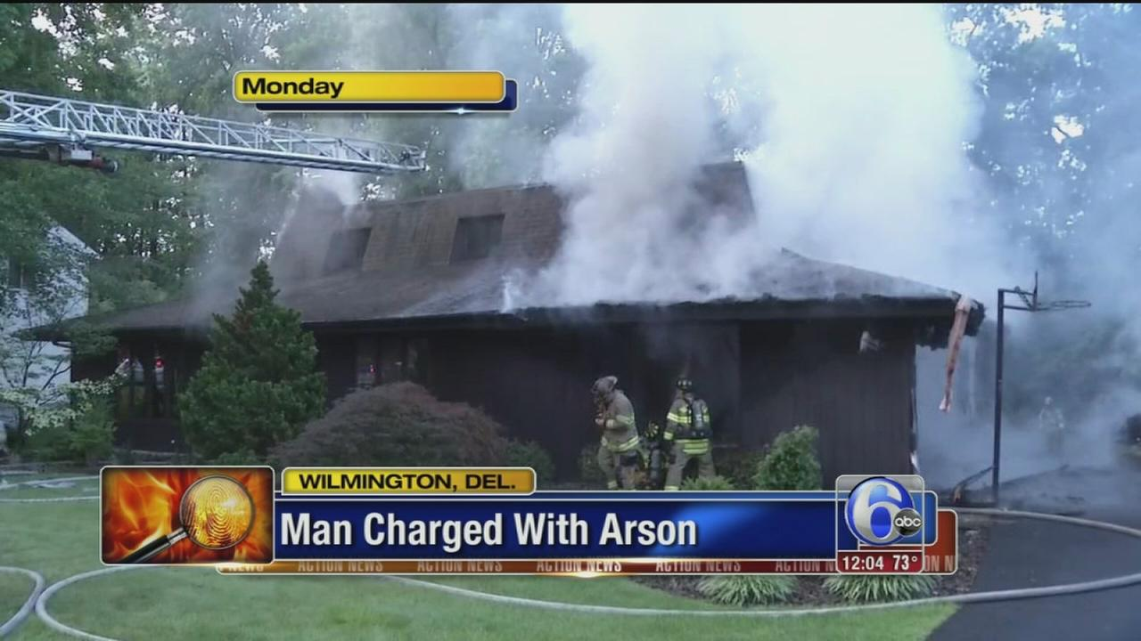 VIDEO: Delaware man charged with arson