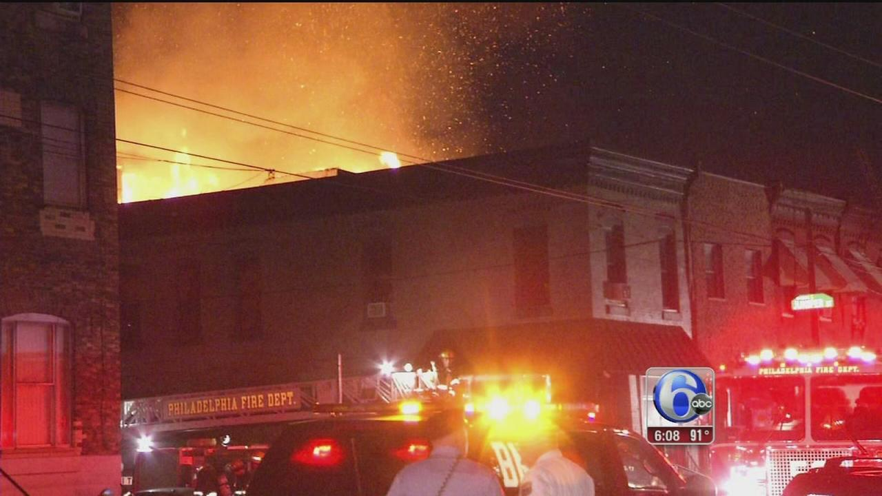VIDEO: Suspicious 3-alarm South Phila. fire displaces 17