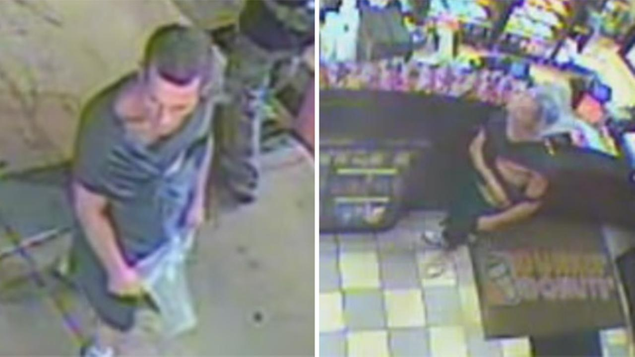 Robbery suspect tries, and fails, to disguise himself with plastic bag