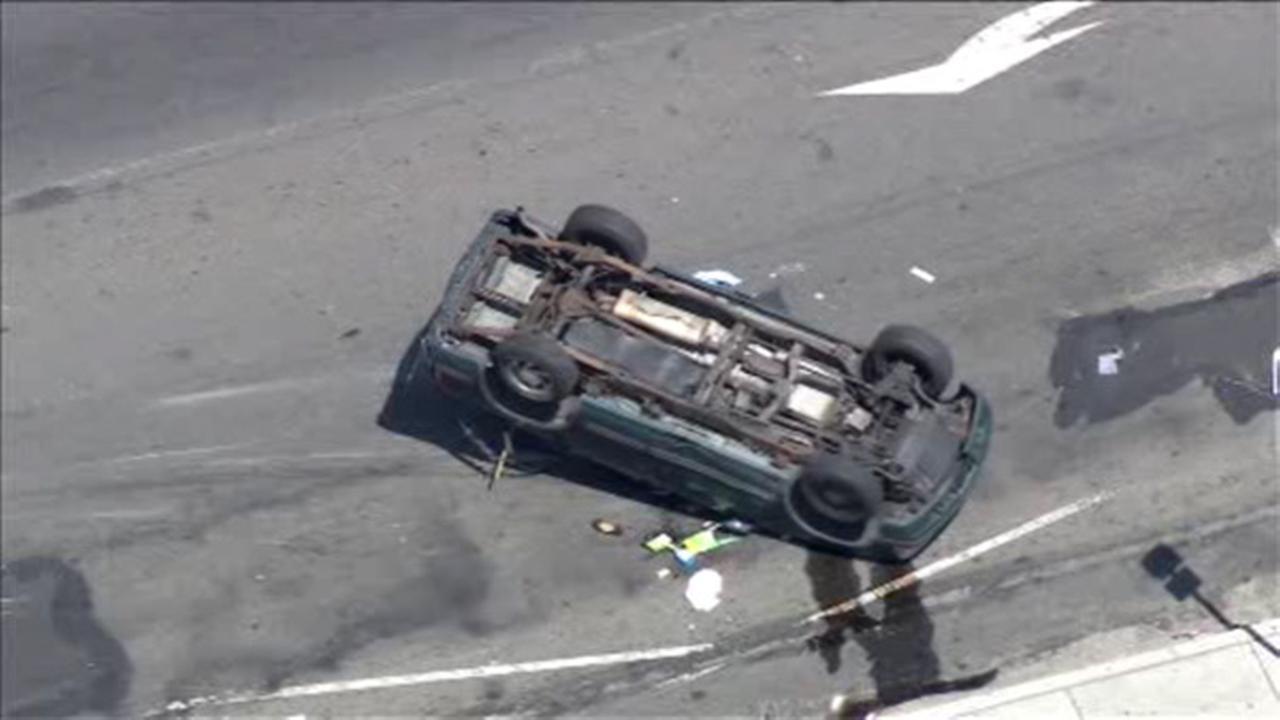 1 injured, others flee scene after crash in West Philadelphia