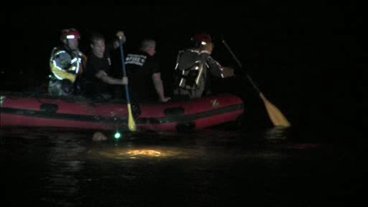 Crews search the Schuylkill River.
