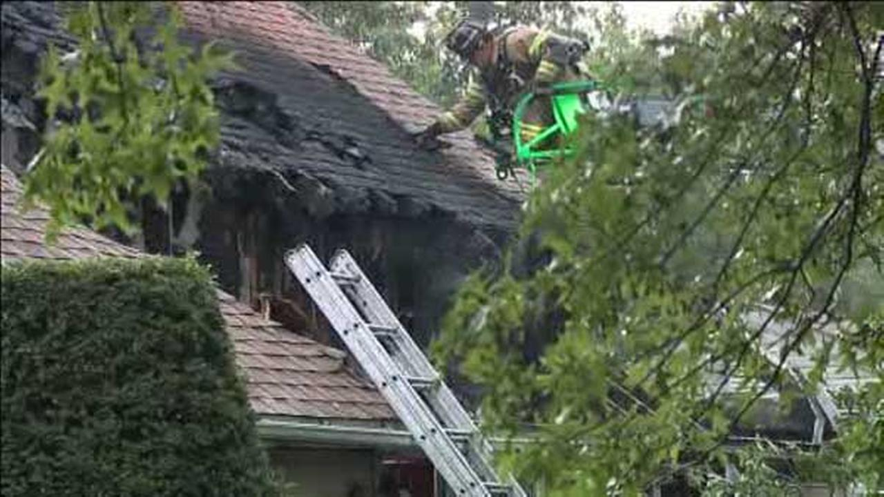 Fast-moving fire damages home in Perkasie
