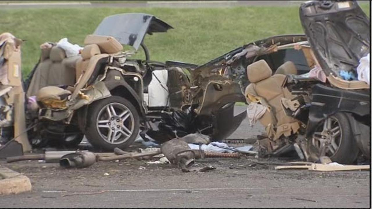 PHOTOS: High-speed crash in Northeast Philadelphia