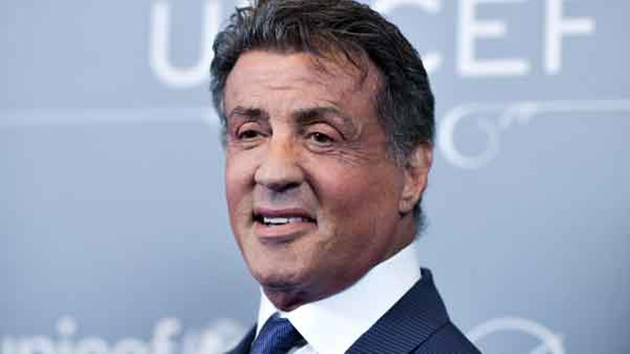FILE - In this Jan. 14, 2014 file photo, Sylvester Stallone arrives at the 2014 UNICEF Ball in Beverly Hills, Calif.