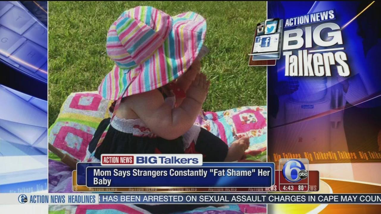 VIDEO: Mom says strangers constantly fat shame her baby