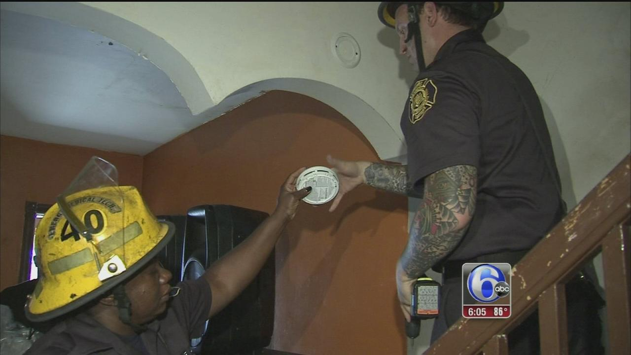 VIDEO: Fire prevention push in SW Phila.