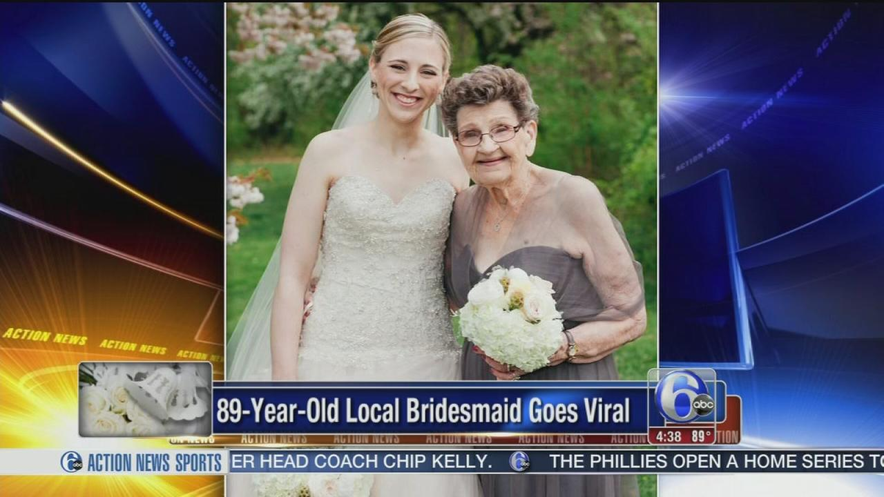 VIDEO: 89-year-old local bridesmaid goes viral