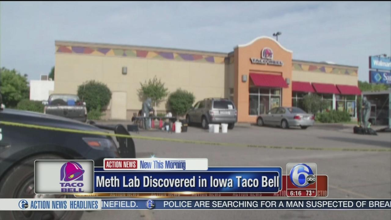 VIDEO: Meth lab remnants found in Iowa Taco Bell