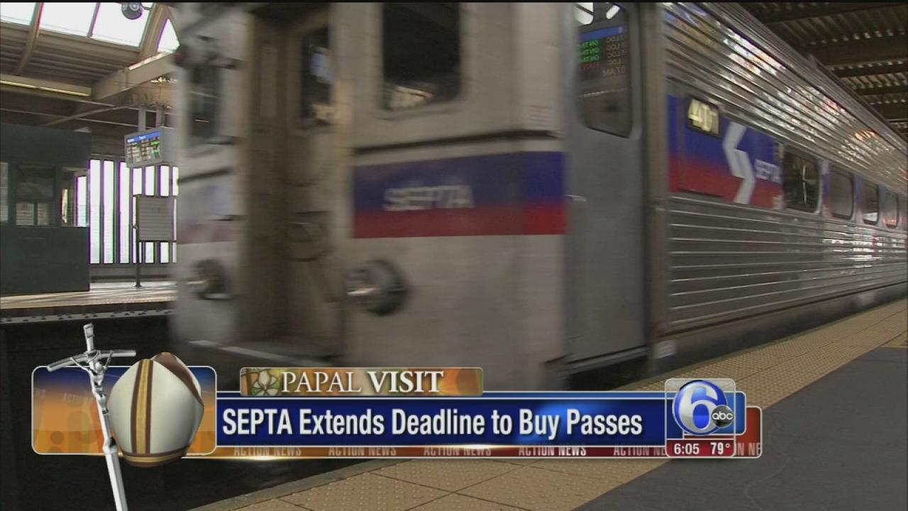 VIDEO: Extension for SEPTA Regional Rail papal pass winners