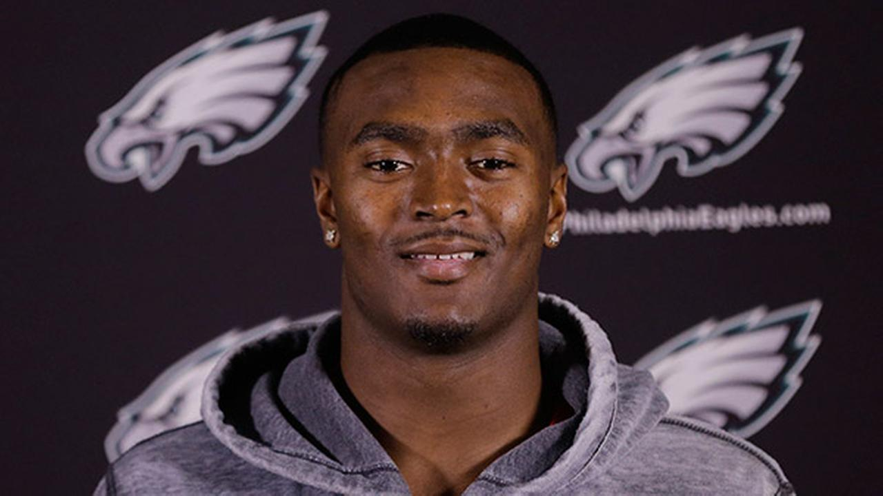 JaCorey Shepherd speaks during a football minicamp media availability Friday, May 8, 2015, at the Philadelphia Eagles NFL training facility in Philadelphia. (AP Photo/Matt Rourke)