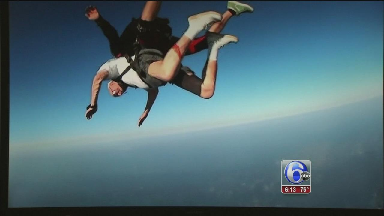 VIDEO: 85-year-old skydives in New Jersey