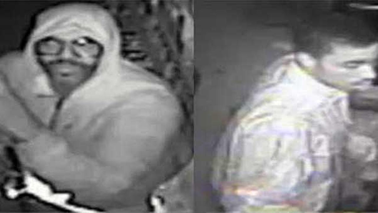 Police are searching for two suspects who burglarized a grocery store in North Philadelphia.