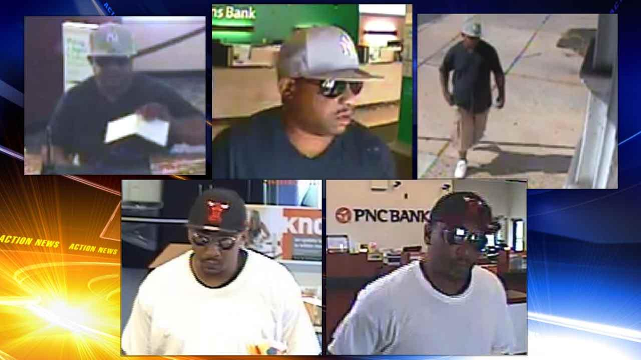 Man wanted for 2 bank robberies in Philadelphia region