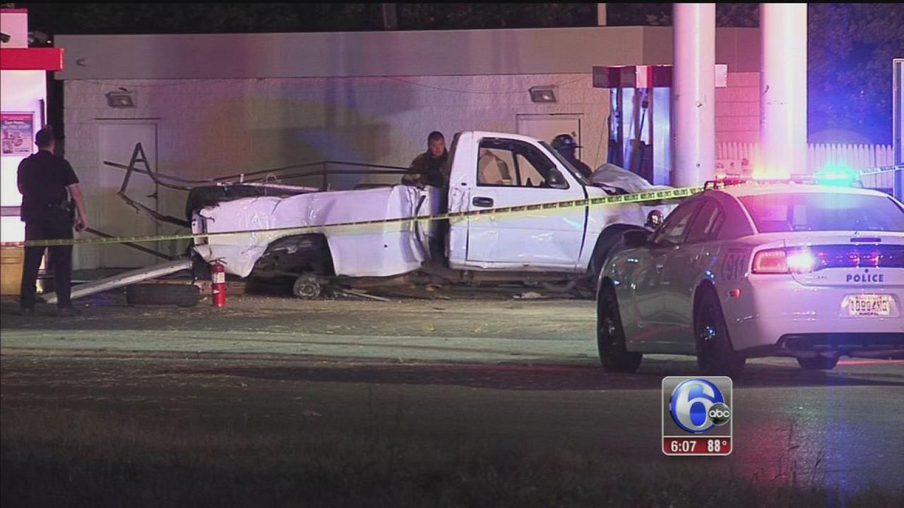 VIDEO: Police: Wild ride ends in fiery crash in NJ