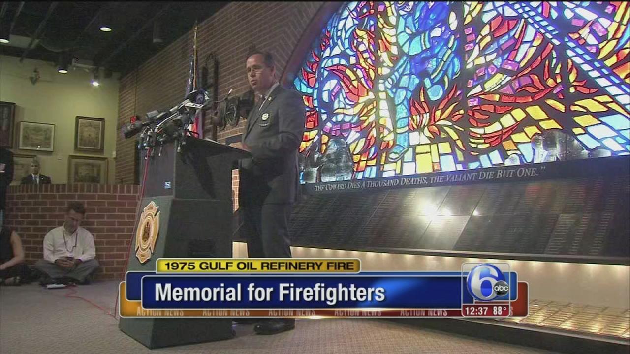 VIDEO: Memorial held for fallen firefighters