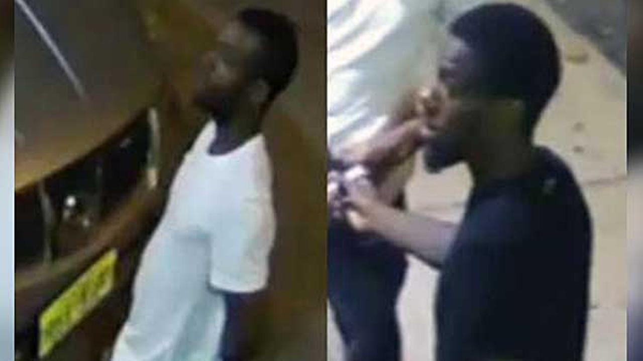 Philadelphia police are searching for a pair of suspects who robbed a bar owner in the citys Brewerytown section early Saturday morning.