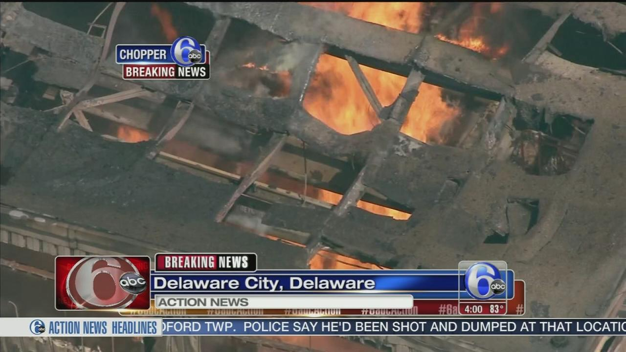 VIDEO: Fire erupts at Delaware City refinery