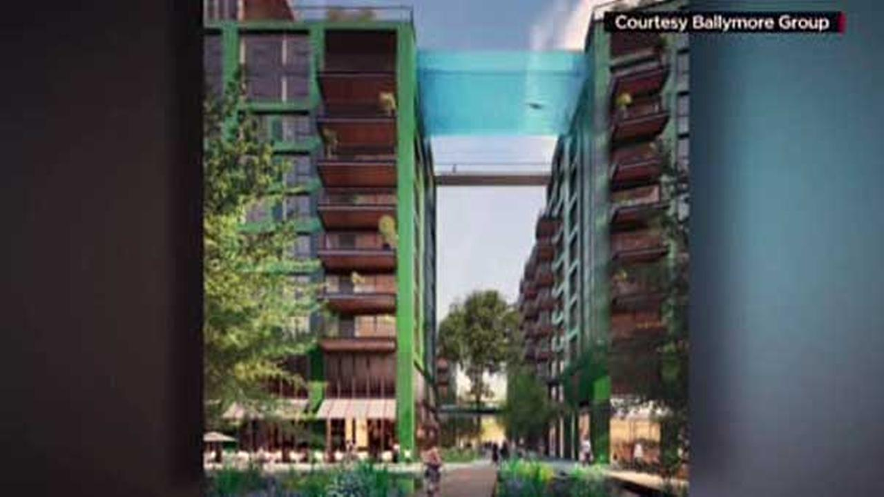 London developers create 'Sky Pool' in between apartment buildings