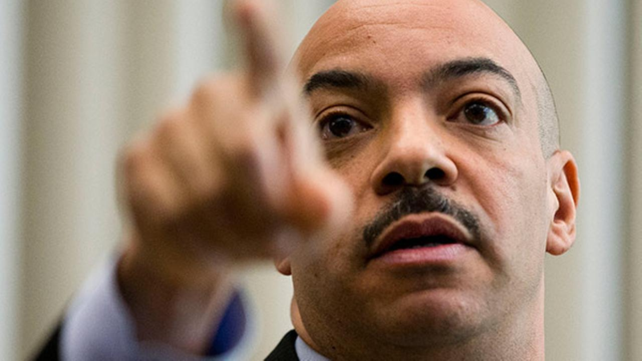 Philadelphia District Attorney Seth Williams gestures during a news conference Thursday, March 19, 2015, in Philadelphia.