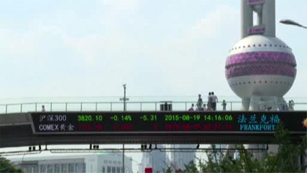 Chinese stock market plunge causes global rout