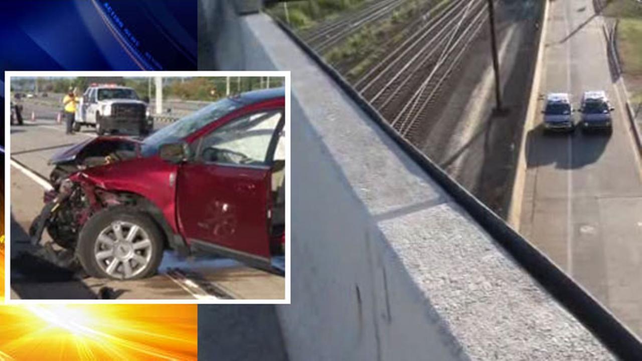 Crash on I-495 near Wilmington, Delaware
