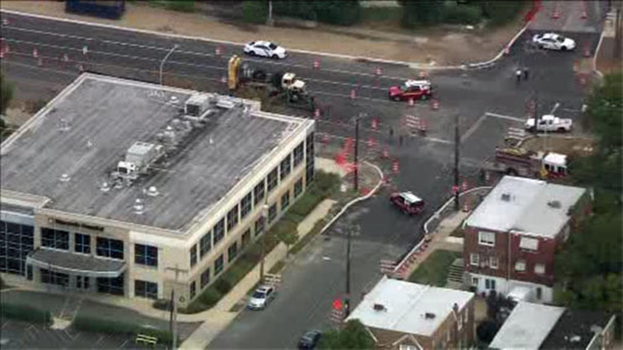 Scene cleared after gas line hit near NE Philly medical building