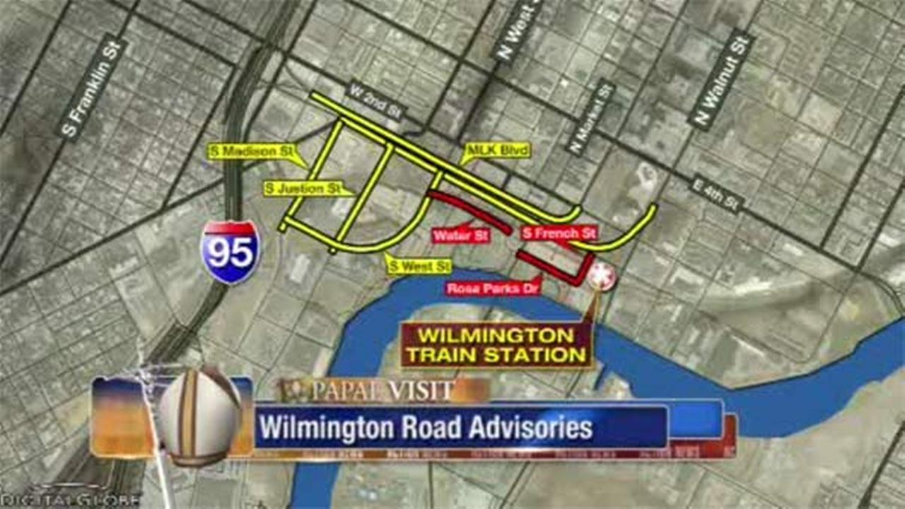 Police name Wilmington roads to be impacted by pope's visit