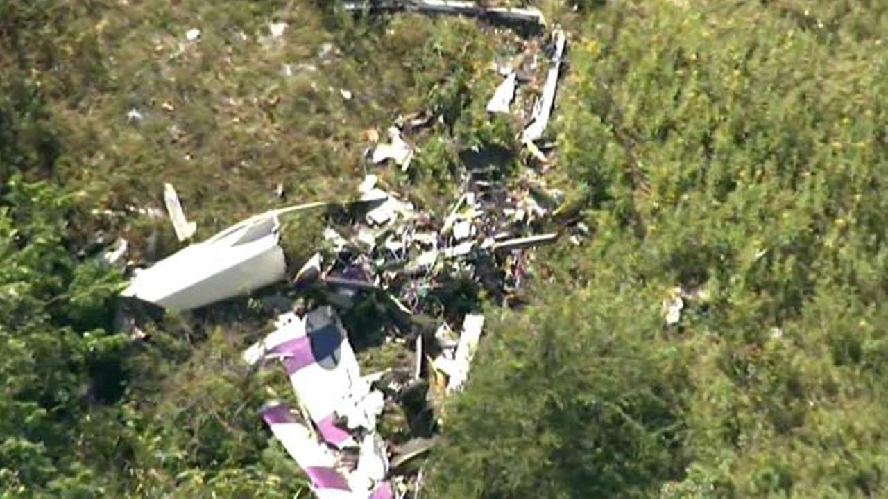 Photo of plane crash courtesy of WABC