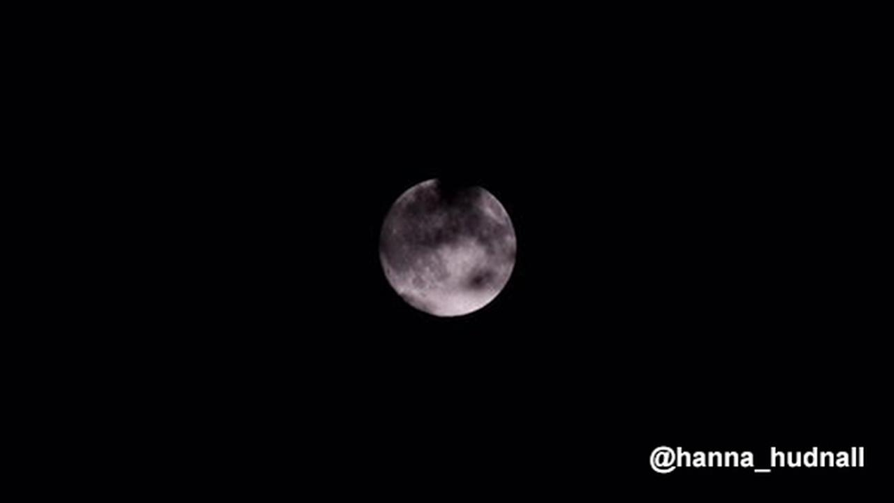 6abc Action: Images of almost full moon in night sky
