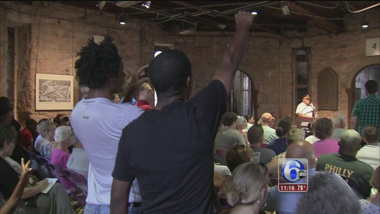VIDEO: Protestors disrupt Commissioner Ramsey