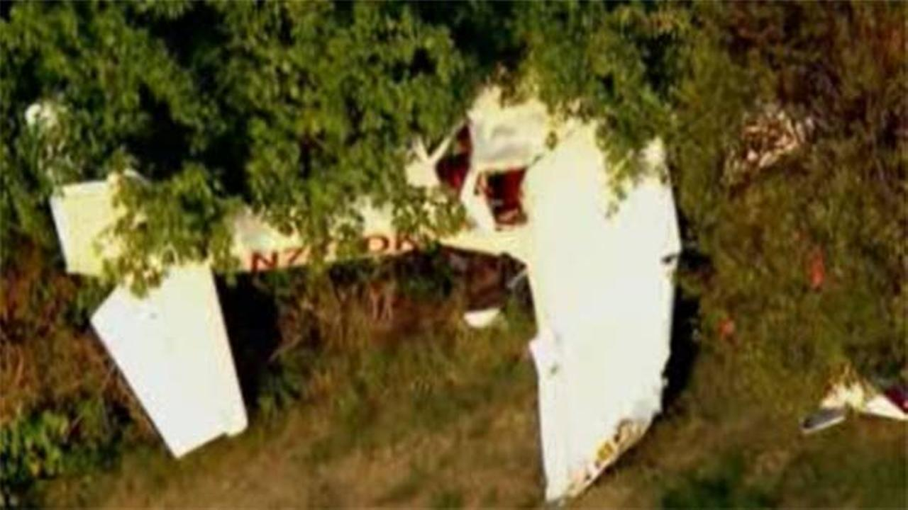 Small plane crashes on New Jersey rec field; 2 aboard hurt