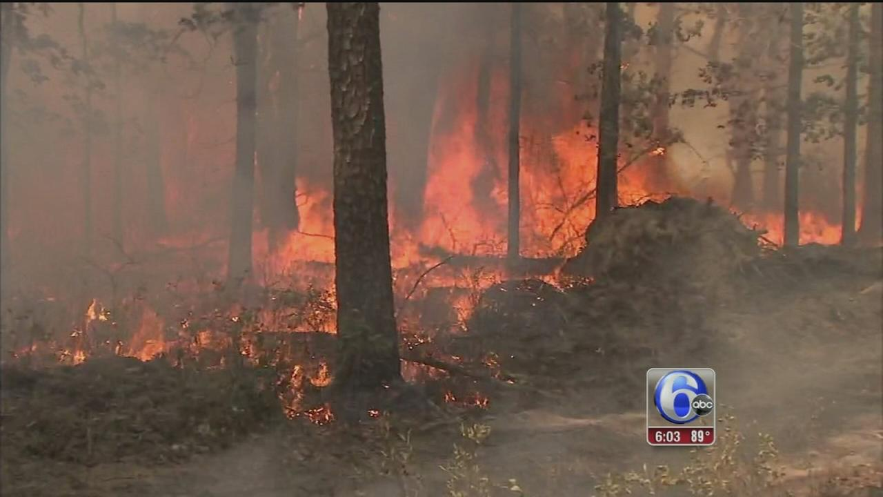 VIDEO: NJ Pine Barrens forest fire 65 percent contained