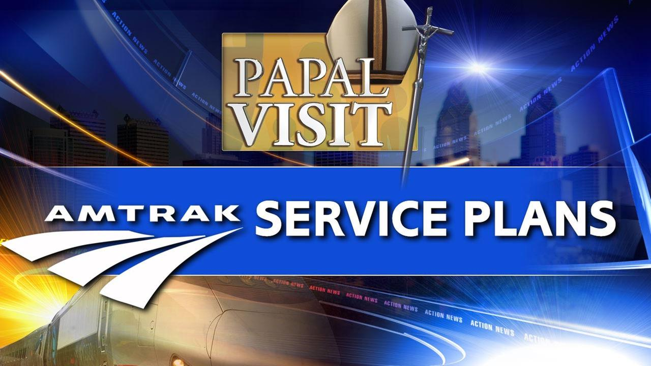 Amtrak adding 41 trains for weekend of pope visit