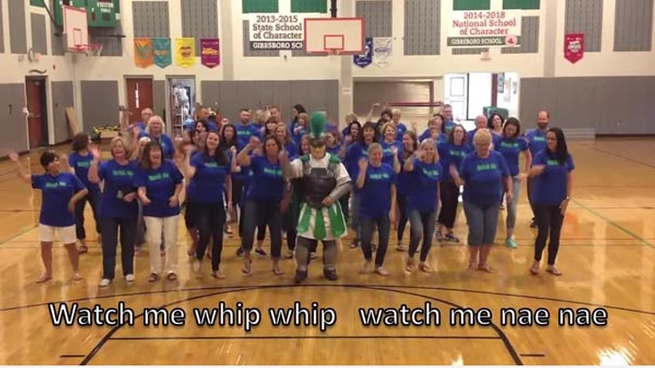 Gibbsboro School teachers welcome students back with 'Watch Me' remake
